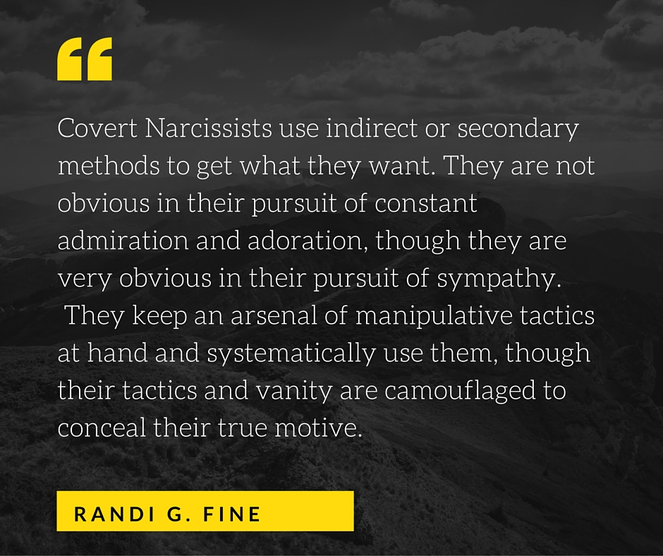 Covert narcissism traits