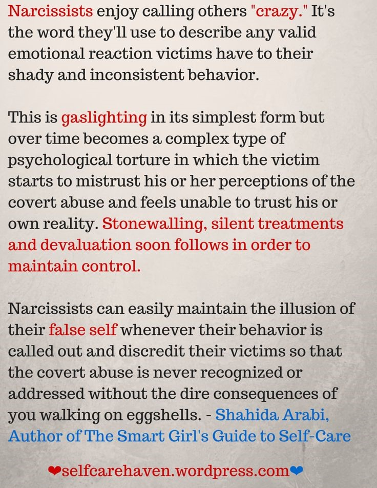 narcissistic relationship pattern